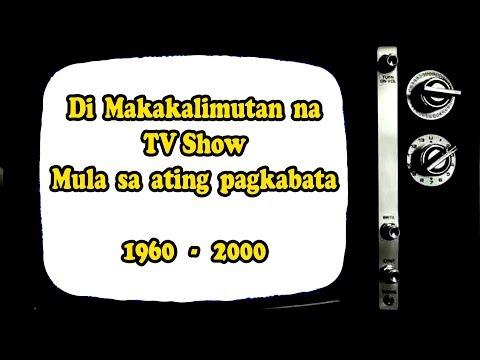 "Philippines Tv Shows Nostalgia 1960's Era - 2000""Edutainment"" (Education + Entertainment)"
