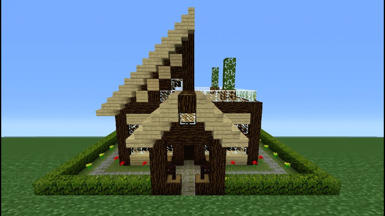 Minecraft Tutorial: How To Make A Wooden House - 10 - YouTube
