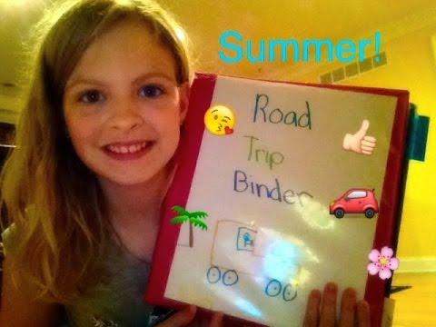 DIY Road Trip Binder-Original Idea- Haley's Corner ep. 9