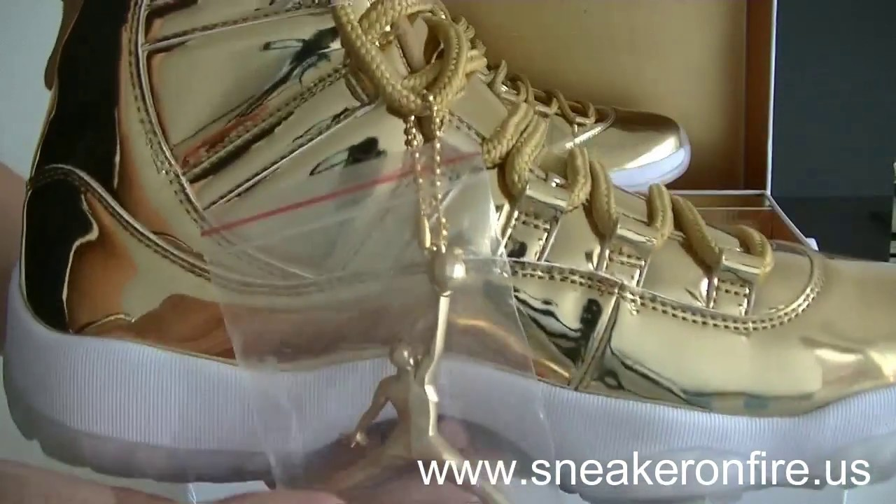online store 60385 70f8c Air Jordan 11 Retro Pinnacle Gold Unboxing Review From sneakeronfire.us