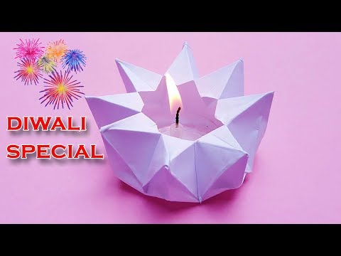 Diya Decoration | How to make diya with paper | Diwali Special