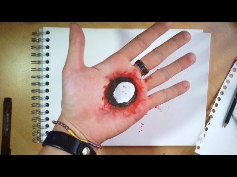 Faux sang et coupures avec un couteau doovi - Fabriquer du faux sang ...