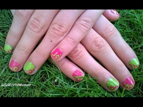 Super easy flower nail art for little girls cheerful summer super easy flower nail art for little girls cheerful summer nails prinsesfo Choice Image