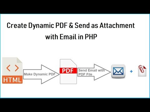 Create A PDF And Send By Email In PHP