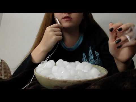 EATING A HUGE BOWL OF ICE ASMR