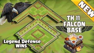 New Th11 Legend Defense Base 2017 Replay | Th11 Falcon Base/Anti valk 6/Anti Queen Walk Bowler Witch