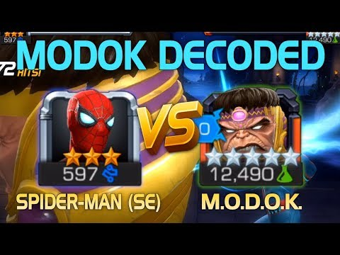 MODOK Decoded: Spider-Man (Stark Enhanced) Vs. MODOK (5* R5) W/ Tips | Marvel Contest Of Champions