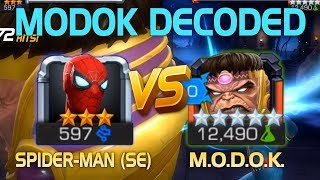 MODOK Decoded: Spider-Man (Stark Enhanced) vs. MODOK (5* R5) w/ Tips   Marvel Contest of Champions
