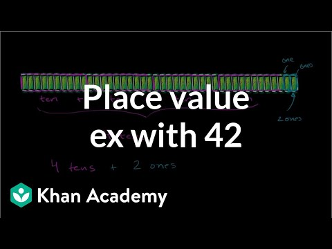 Place Value Example With 42 | Place Value (tens And Hundreds) | Early Math | Khan Academy