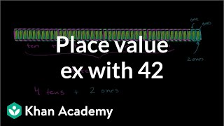 Place value example wİth 42 | Place value (tens and hundreds) | Early Math | Khan Academy