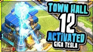 TH 12 VS ALL MAX TROOPS OF COC  [Must See this] Giga tesla leaked gameplay by A S GAMING