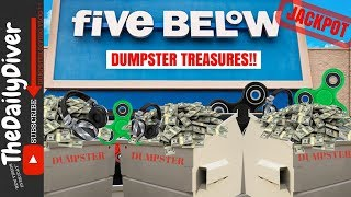 MEGA JACKPOT! *11 Boxes Worth* Treasure Hunting Five Below Dumpster! Dumpster Dive Night #77
