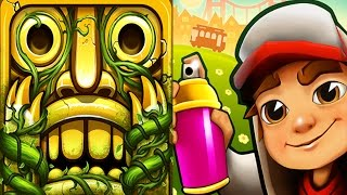 Temple Run 2 Sky Summit VS Subway Surfers Hawaii Android iPad iOS Gameplay HD