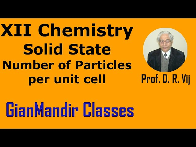 XII Chemistry | Solid State | Number of Particles per unit cell by Gaurav Sir