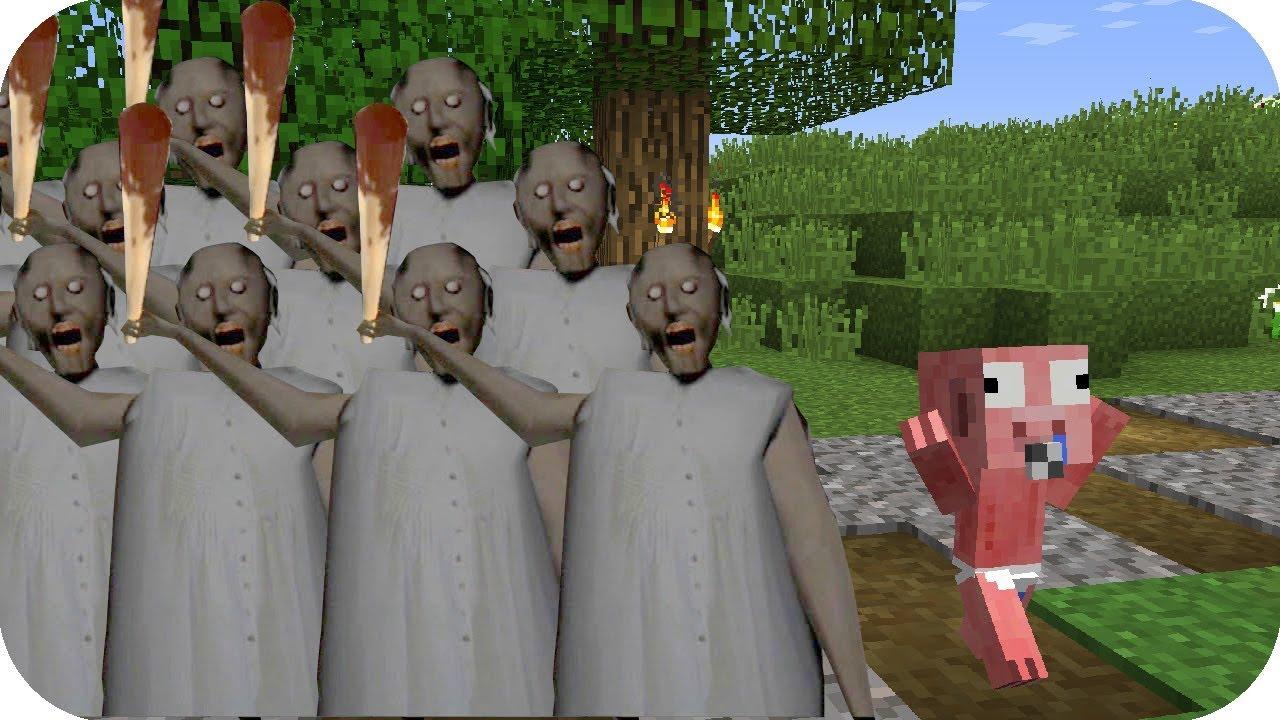 Bebe Aenh Vs Tsunami De Granny Minecraft Pe Juego Gratis Youtube
