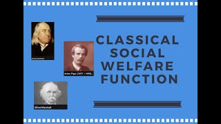 Classical Social Welfare Function | Microeconomics | Welfare Economics | The Hedonist