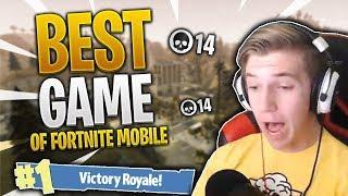 CONFIRMED FORTNITE MOBILE GOD // My Best Game Of Fortnite Mobile