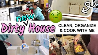DIRTY NEW HOUSE CLEAN, ORGANIZE, AND COOK WITH ME  PRODUCTIVE GET IT ALL DONE 2020