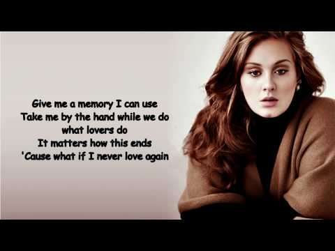 AdeleAll I Ask Lyrics Video