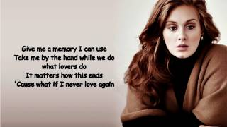 Adele All I Ask Lyrics Video