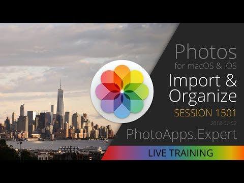 Apple Photos; IMPORT & ORGANIZE — PhotoApps.Expert Live Training 1501 SAMPLE