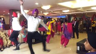 Bhangra dance performance by cousins at Marriage