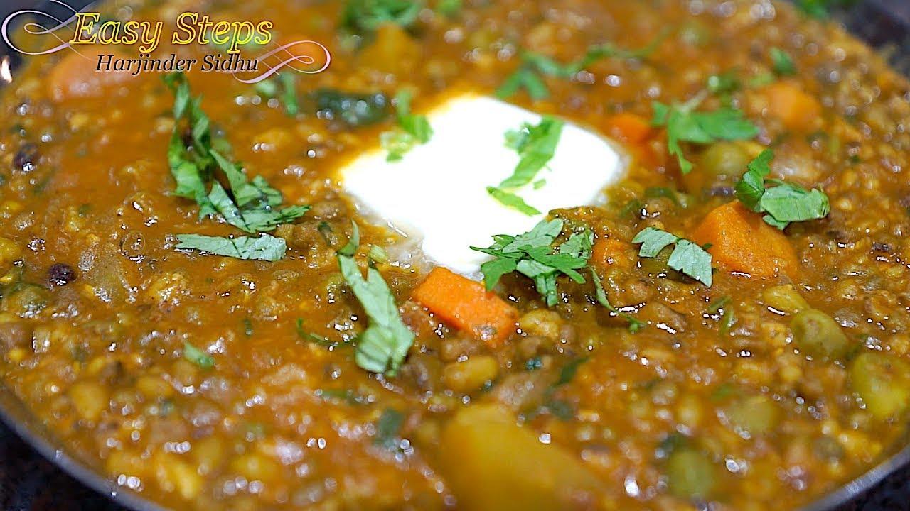 Moong Dal In Pressure Cooker Hare Mung Beans Green Gram Dal Recipe Moongi Di Dal