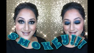 Teal Smokey Eyes ** B Beautiful by Binita **