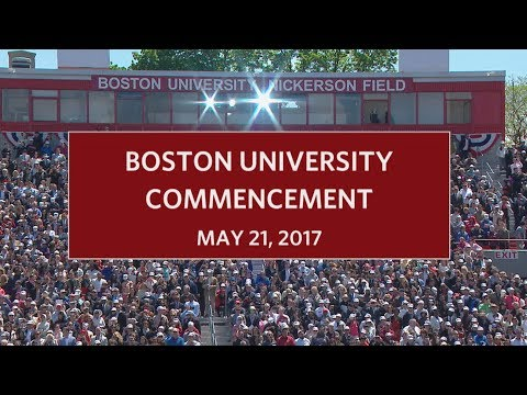 Boston University Commencement 2017
