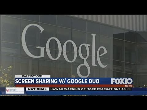 Screen Sharing With Google Duo