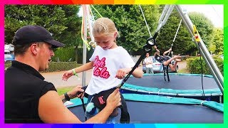 Bungee Trampoline at a EuroCamp in France | Hannah and Jessica