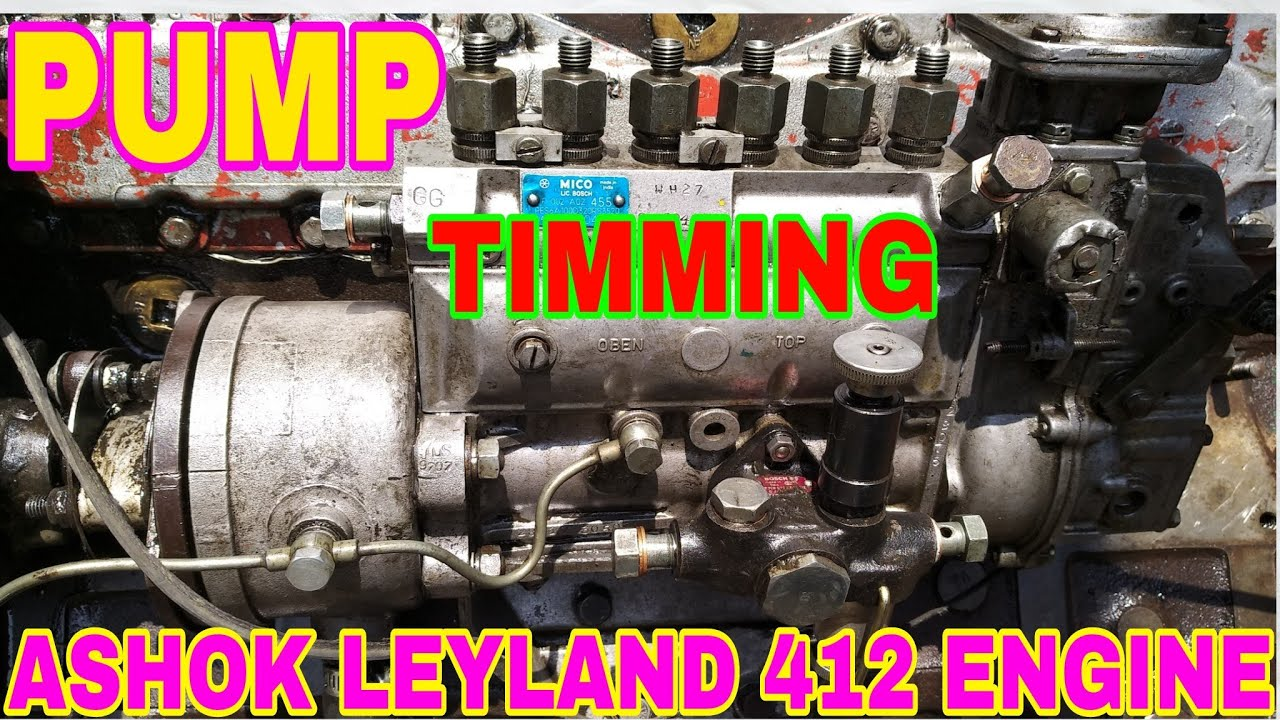 Pump Timming Set For Ashok Leyland 412 Engine, By Mechanic Gyan,