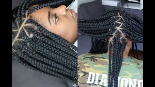 How To - Box Braids Like A Pro // Extremely Neat Parts.
