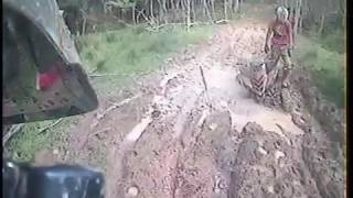 Quad Bike vs Mud Hole Battle 2 - Helmet Cam