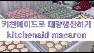 키친에이드로 대량생산하기 (Make macarons w…