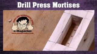 How to make a square mortise with a drill press and a forstner bit!