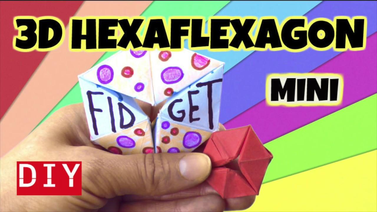 Easy Diy Fidget Toy How To Make A 3d Mini Hexaflexagon Fidget Toy