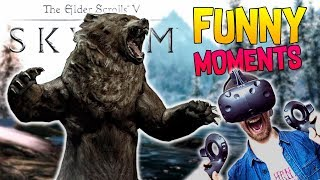 ATTACK OF THE VR GIANTS! | Skyrim VR Funny Moments gameplay - HTC Vive Gameplay