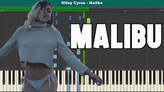 Malibu Piano Tutorial - Free Sheet Music (Miley Cyrus)
