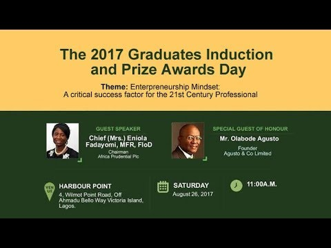 2017 Graduates Induction and Prize Awards Day