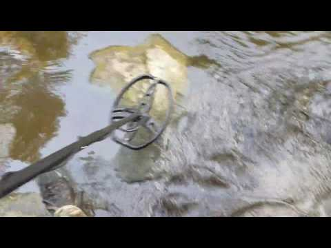 Creek walking in Missouri - Metal detecting day, Garrett Ace 350, Railroad stuff, Musk rat (1 of 3)