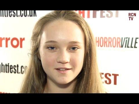 Isabelle Allen Interview Let's Be Evil Premiere