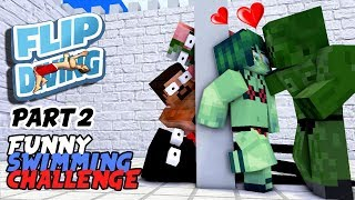 MONSTER SCHOOL : FUNNY SWIMMING CHALLENGE PART 2 (BOYS REVENGE) - BEST MINECRAFT ANIMATION