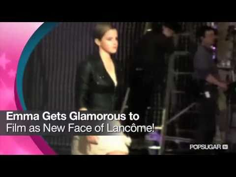Emma Watson Gets Glamorous to Film as New Face of Lancome!