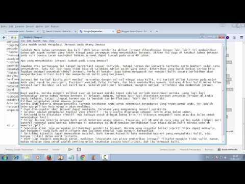 Tips membuat artikel untuk blog dari bahasa inggris ke indonesia