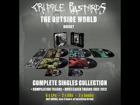 "CRIPPLE BASTARDS ""The outside world"" complete singles collection. UNBOXING"