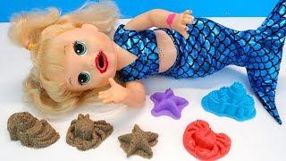 ДАЙТЕ СКОРЕЙ ВОДЫ! Кукла Русалка Волшебное Превращение Игрушки Для девочек 108mamaTV
