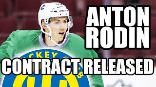 Anton Rodin Placed On Waivers With Intent To Release Contract (To Sign With HC Davos Of Swiss NLA)