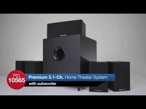 Monoprice Premium 5.1 Surround Sound Home Theater with Subwoofer