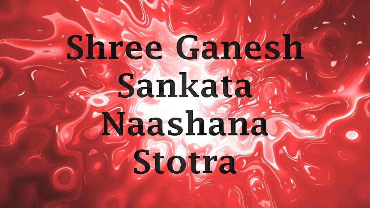 Sankat Nashan Ganesh Stotram Pdf
